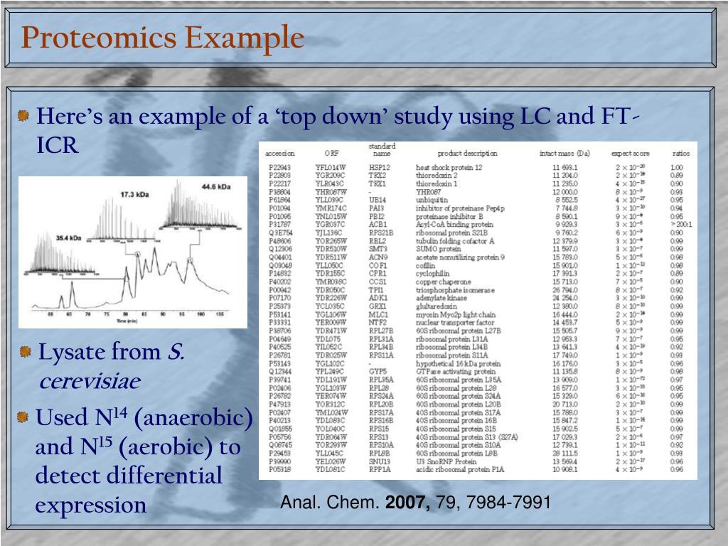Proteomics Example