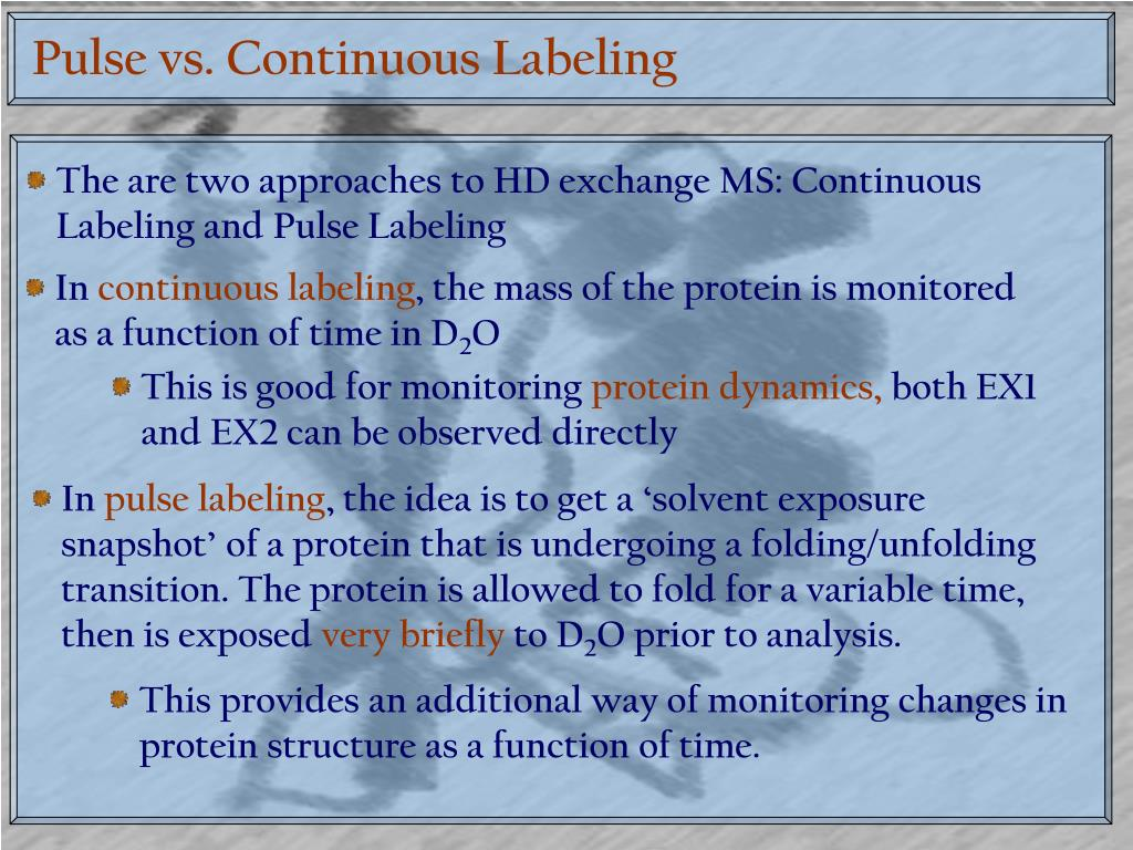 Pulse vs. Continuous Labeling