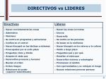directivos vs lideres