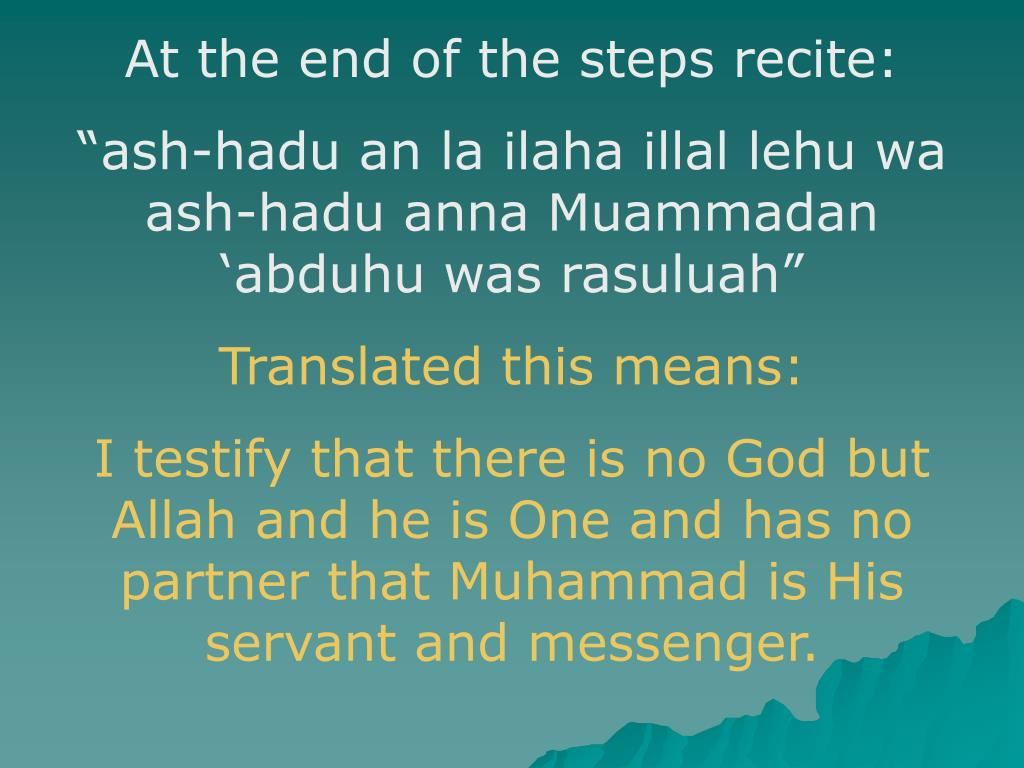 At the end of the steps recite: