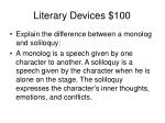 literary devices 100