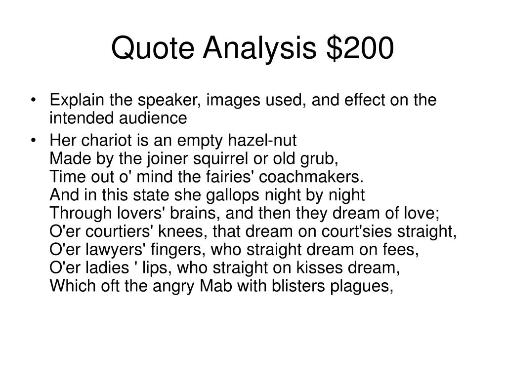 Quote Analysis $200