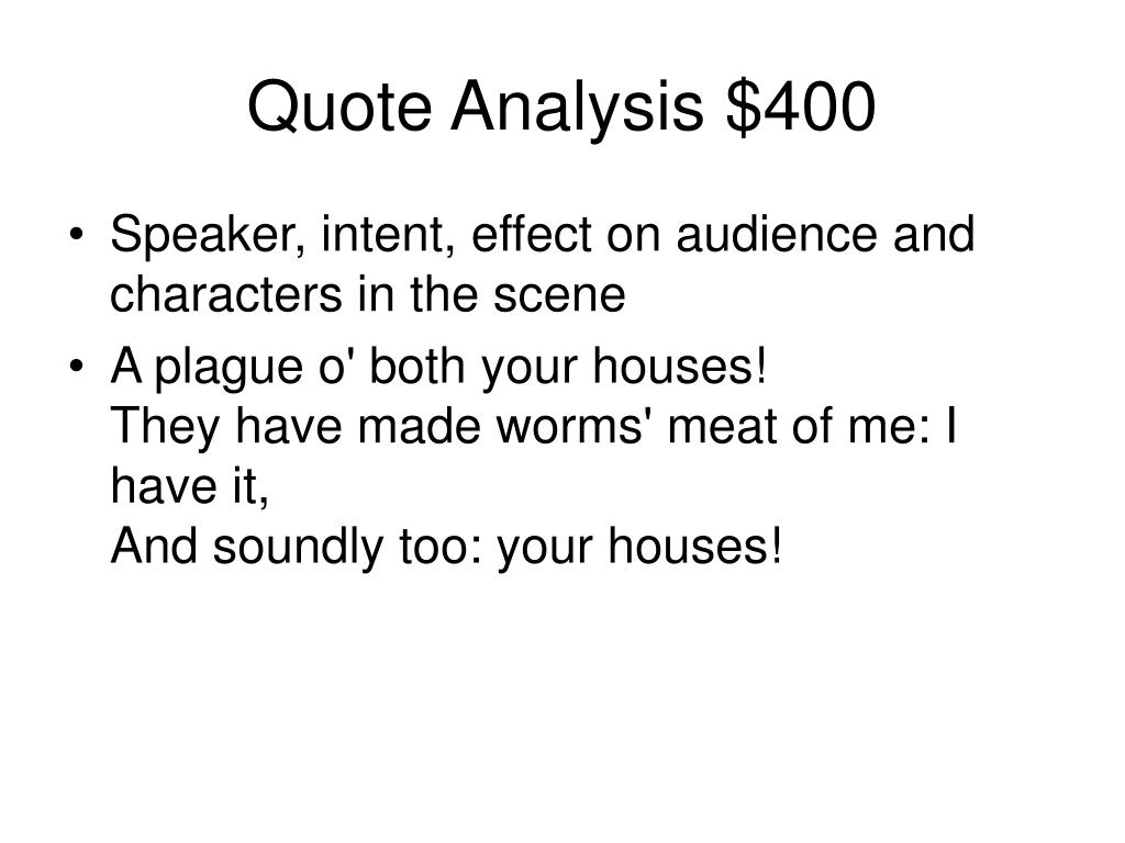 Quote Analysis $400
