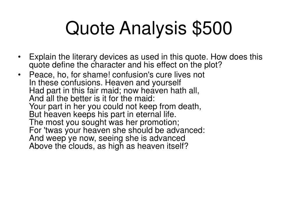 Quote Analysis $500