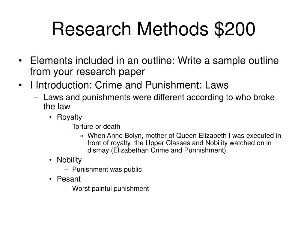 Research Methods $200