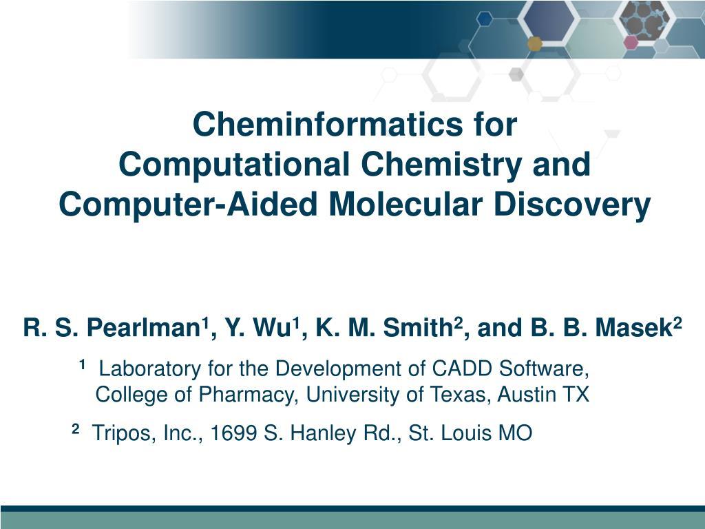 Cheminformatics for