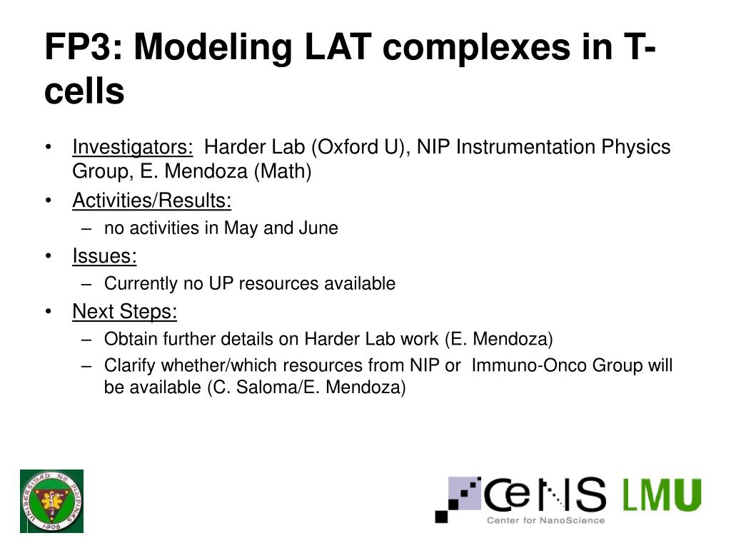 FP3: Modeling LAT complexes in T-cells
