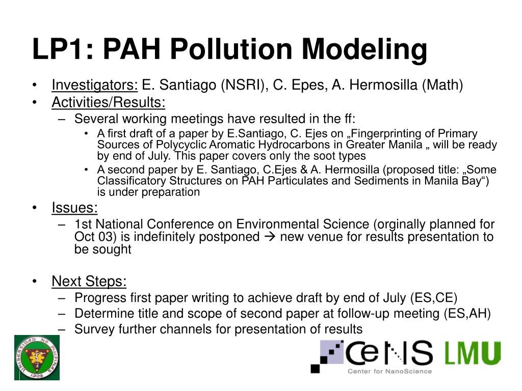 LP1: PAH Pollution Modeling