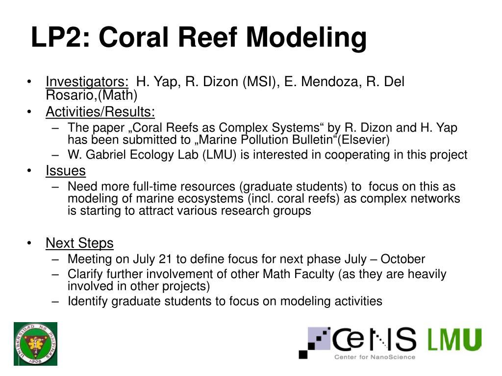 LP2: Coral Reef Modeling