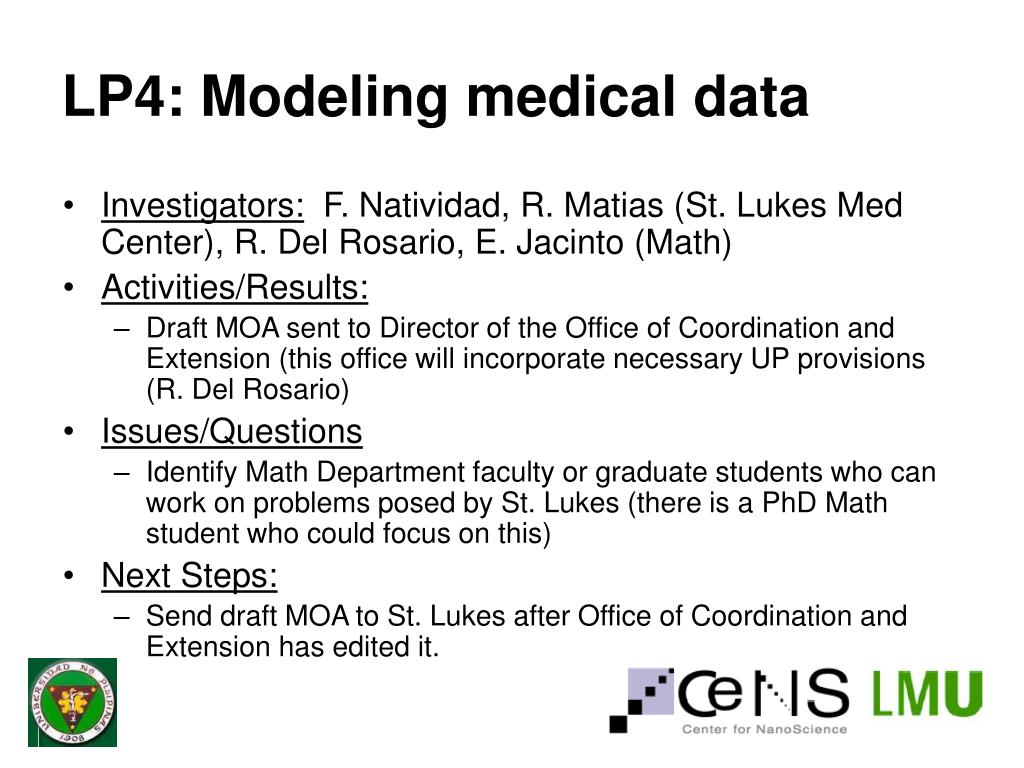 LP4: Modeling medical data