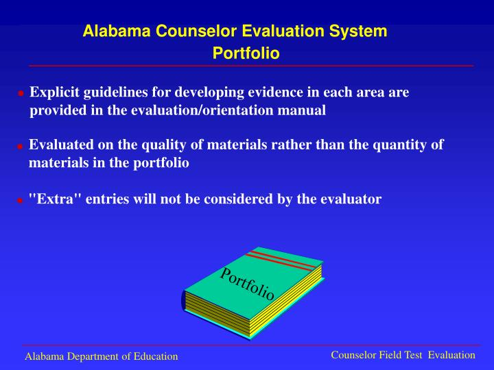 Explicit guidelines for developing evidence in each area are
