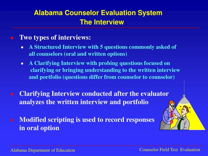 Alabama Counselor Evaluation System
