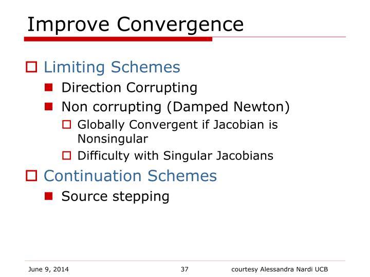 Improve Convergence