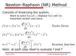 newton raphson nr method