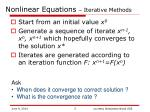 nonlinear equations iterative methods