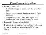 chou fasman algorithm