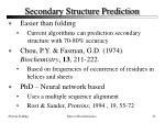 secondary structure prediction32