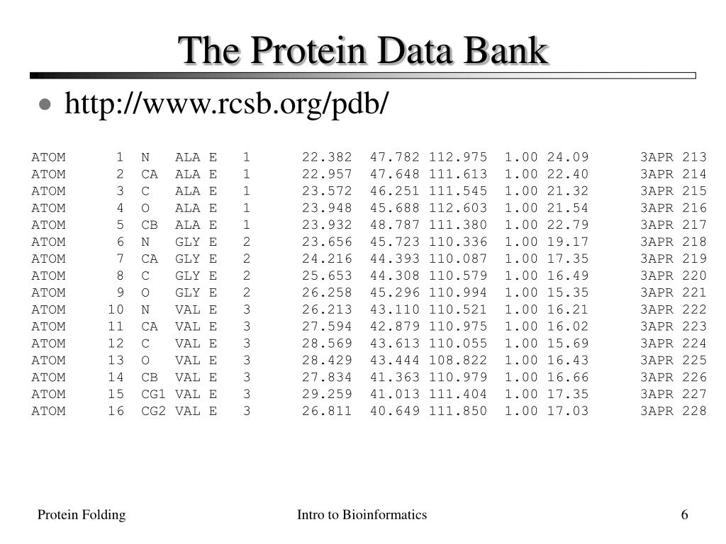 The Protein Data Bank