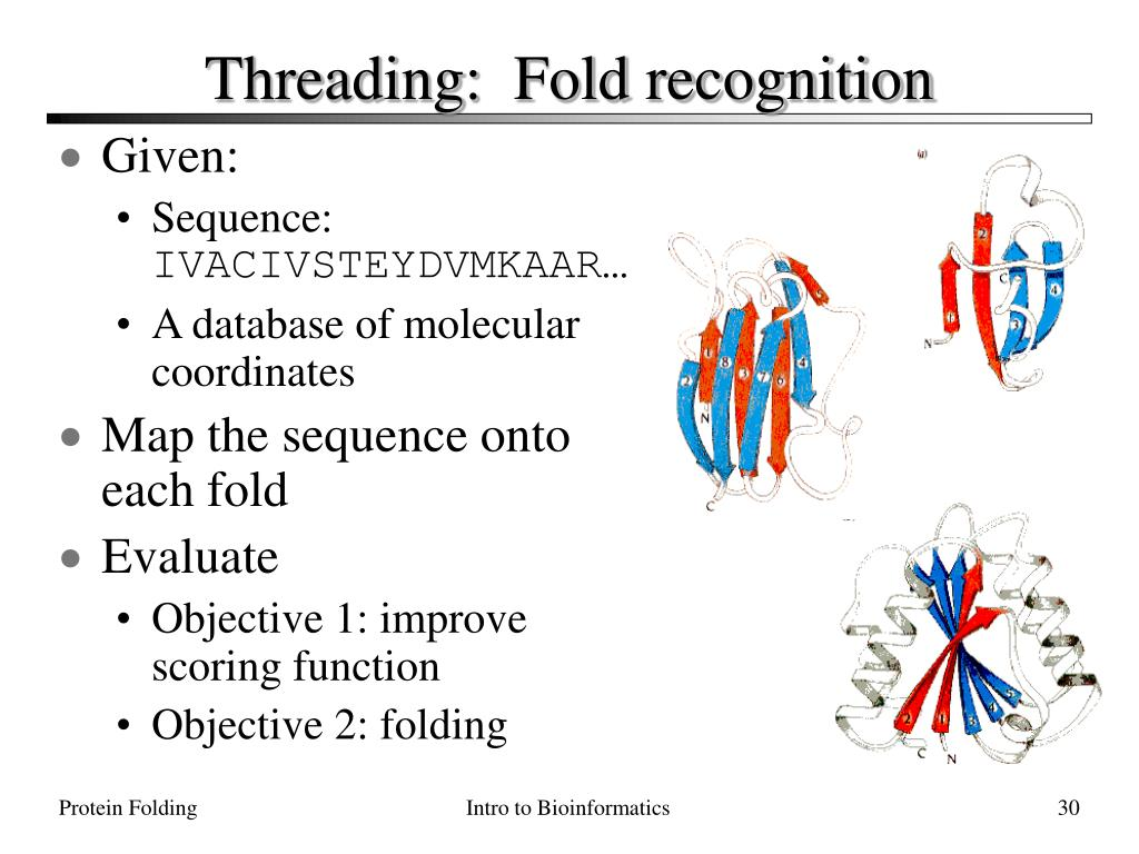 Threading:  Fold recognition