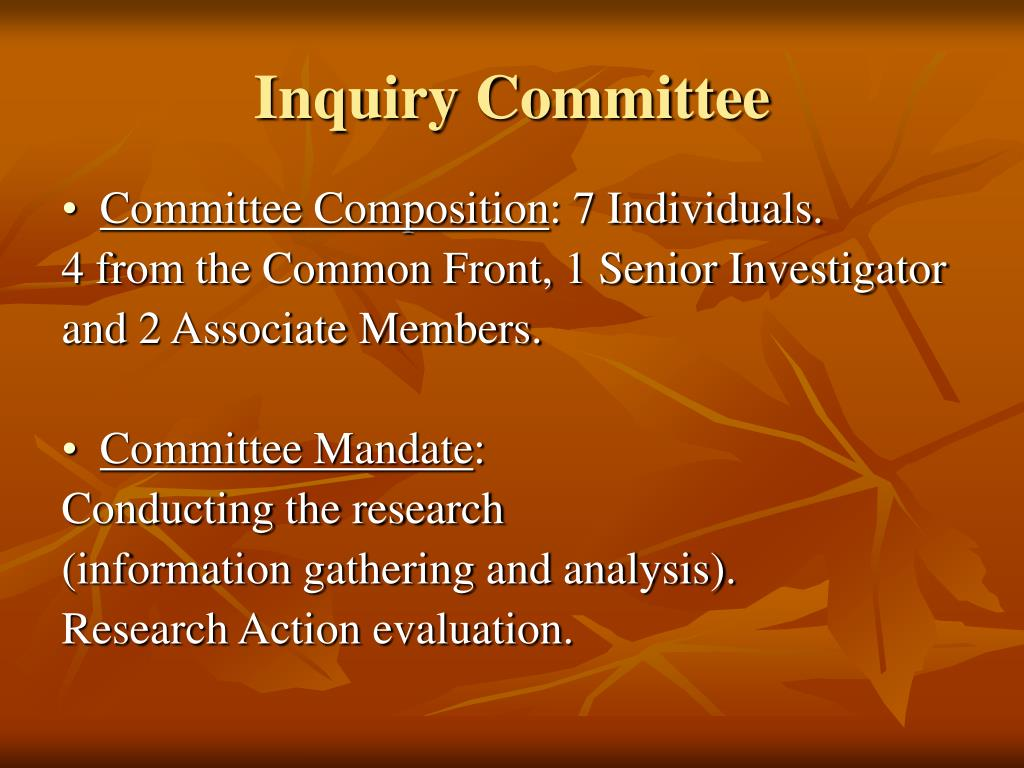 Inquiry Committee