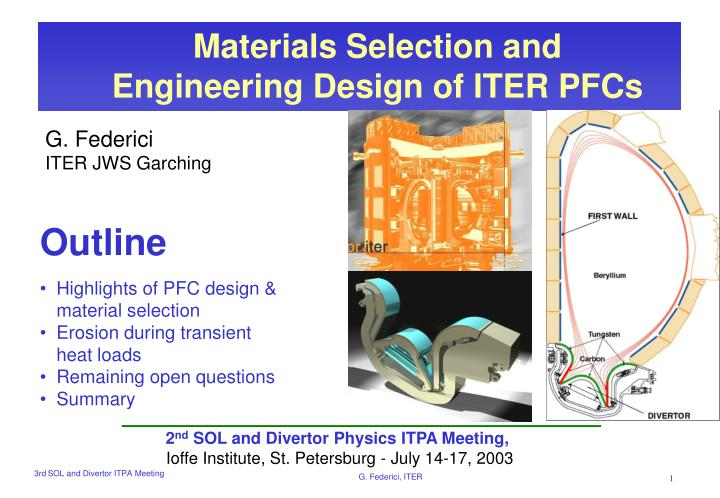 Materials Selection and