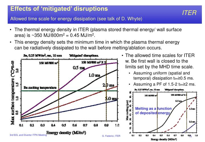 Effects of 'mitigated' disruptions