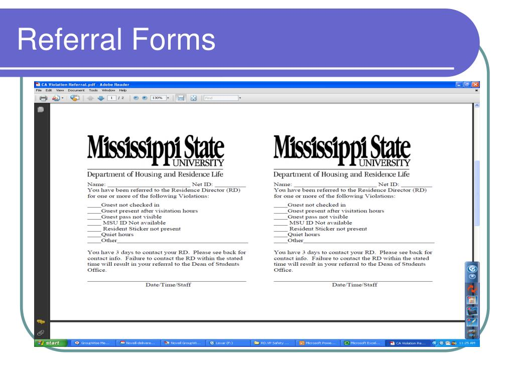 Referral Forms