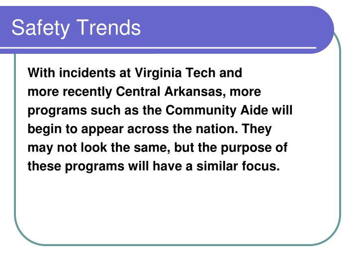 Safety trends