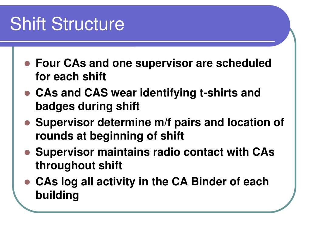Shift Structure