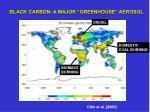 black carbon a major greenhouse aerosol