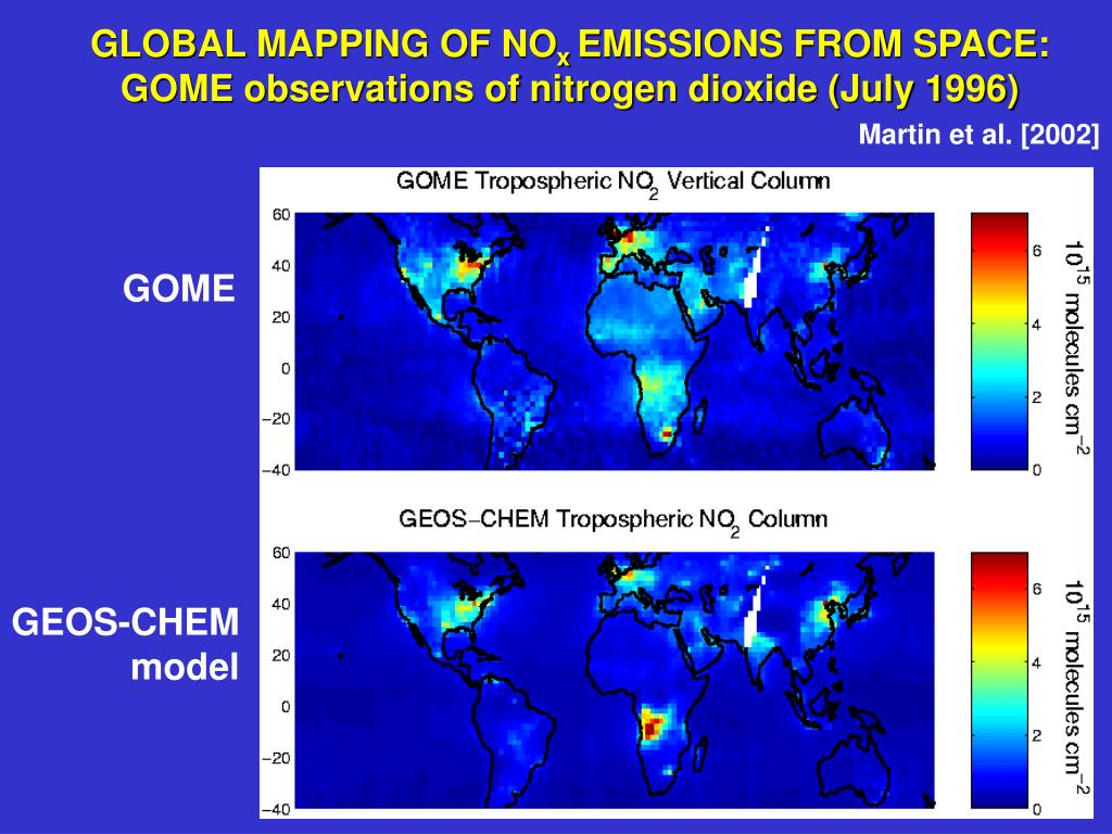 GLOBAL MAPPING OF NO