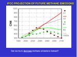 ipcc projection of future methane emissions