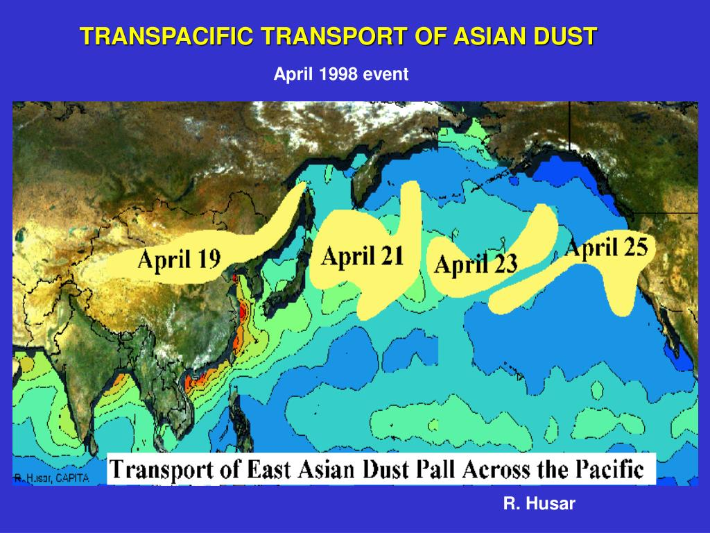 TRANSPACIFIC TRANSPORT OF ASIAN DUST