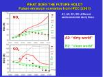 what does the future hold future emission scenarios from ipcc 2001
