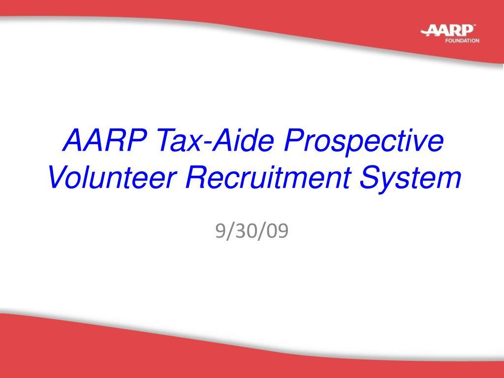 aarp tax aide prospective volunteer recruitment system