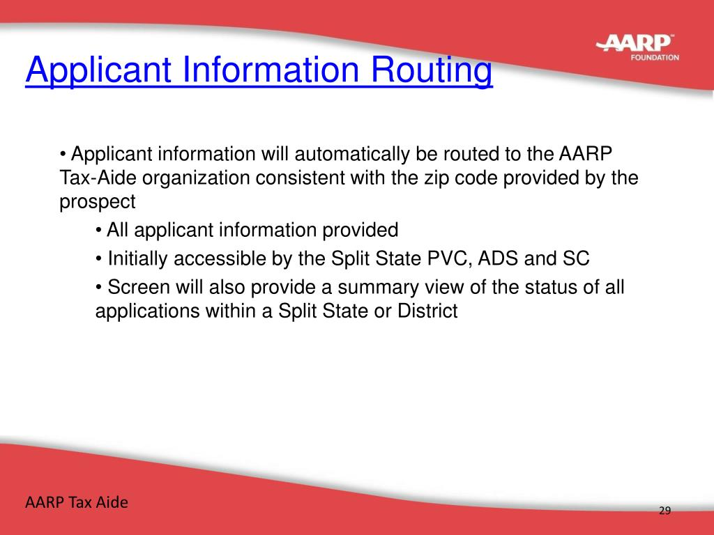 Applicant Information Routing