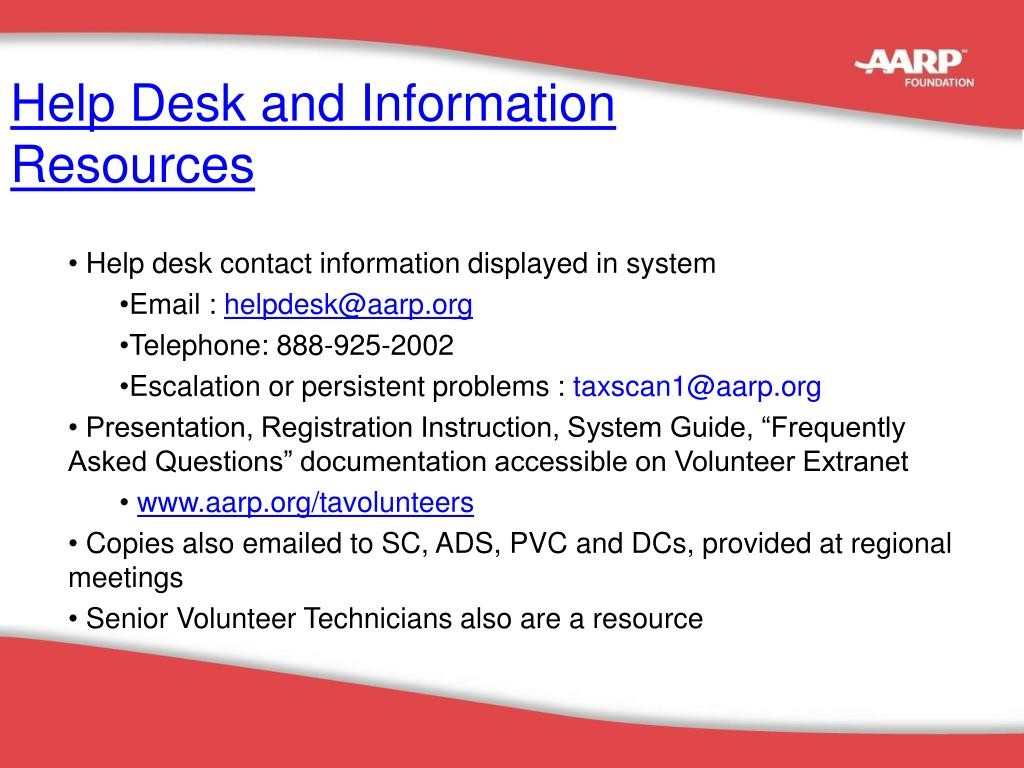 Help Desk and Information
