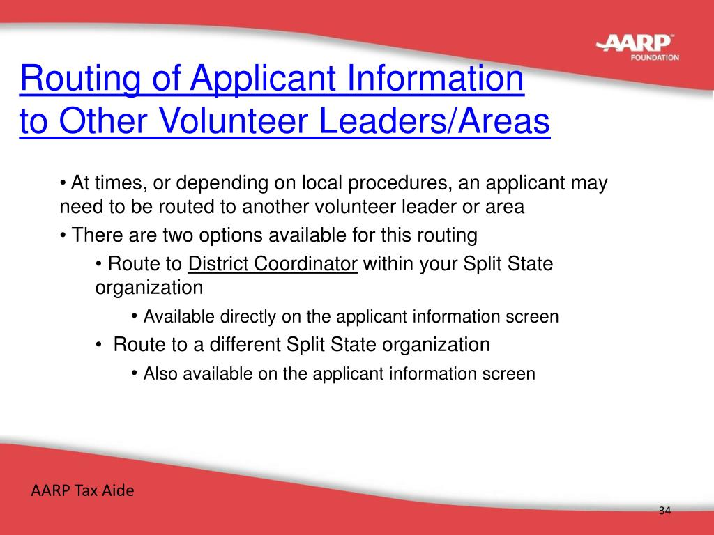 Routing of Applicant Information