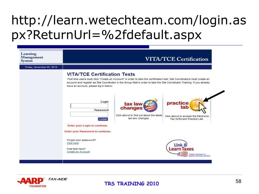 http://learn.wetechteam.com/login.aspx?ReturnUrl=%2fdefault.aspx