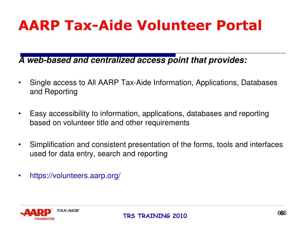 AARP Tax-Aide Volunteer Portal
