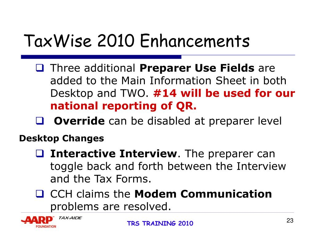 TaxWise 2010 Enhancements