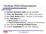 taxwise 2010 enhancements24