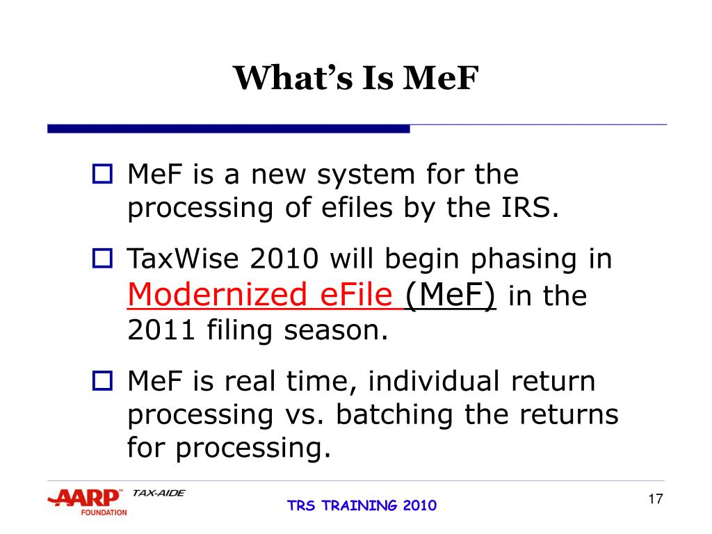 What's Is MeF