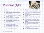 post test t f