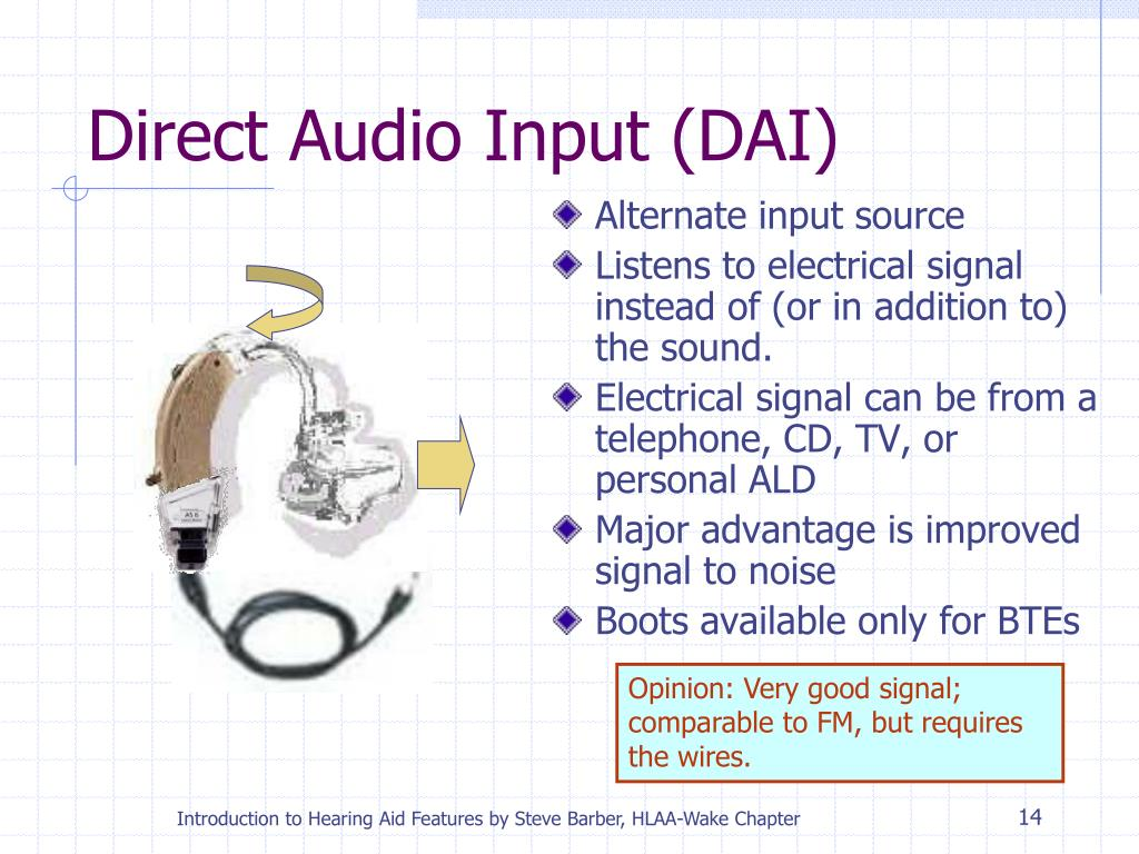 Direct Audio Input (DAI)