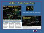 aprs traffic speed posts