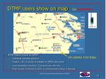 dtmf users show on map