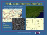 findu com internet interface
