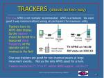 trackers should be two way