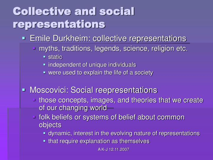 Collective and social representations